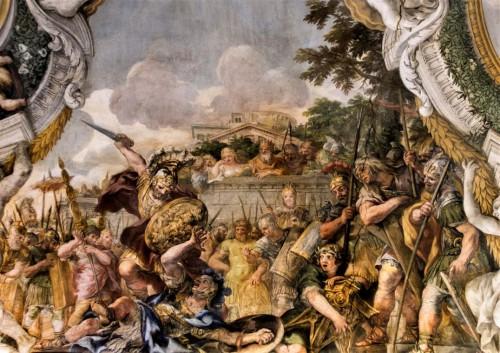 Historia Eneasza, Pojedynek Eneasza z Turnusem, Palazzo Pamphilj
