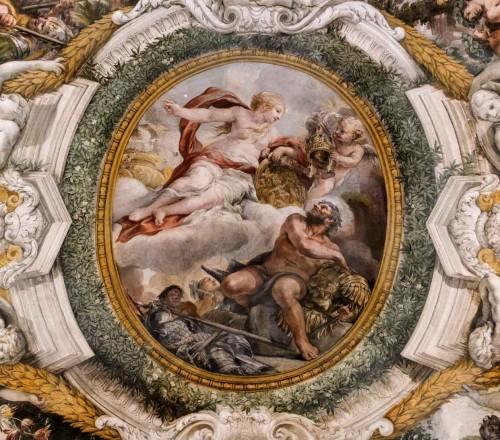 Historia Eneasza, Wenus przybywa do Wulkana po zbroję dla Eneasza, Pietro da Cortona, Palazzo Pamphilj