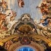 Historia Eneasza, Eneasz poszukuje złotej gałęzi - scena w medalionie, Pietro da Cortona, Palazzo Pamphilj