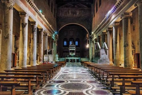 Bazylika San Lorenzo fuori le mura, nawa dobudowana w XIII w. przez  papieża Honoriusza III