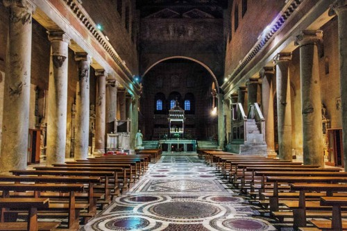 Basilica of San Lorenzo fuori le mura, nave added in the XIII century by Pope Honorius III