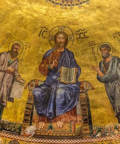 Bazylika San Paolo fuori le mura, mozaiki  absydy