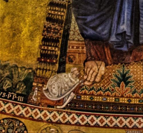 Bazylika San Paolo fuori le mura, mozaiki  absydy, fragment
