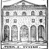 Fasada kościoła Sant'Eusebio (przed modernizacją), rycina z XVI w. Girolamo Franzini, zdj. Wikipedia
