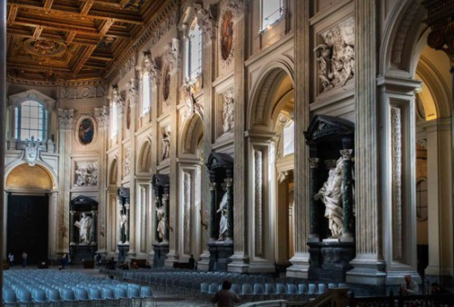 Bazylika San Giovanni in Laterano, barokizacja wnętrza - Francesco Borromini, XVII w.