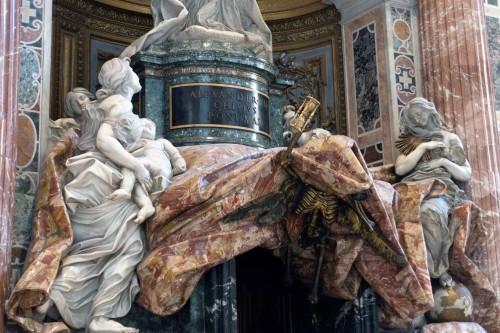 Allegories of virtues, tombstone of Alexander VII, Gian Lorenzo Bernini, Basilica of San Pietro in Vaticano
