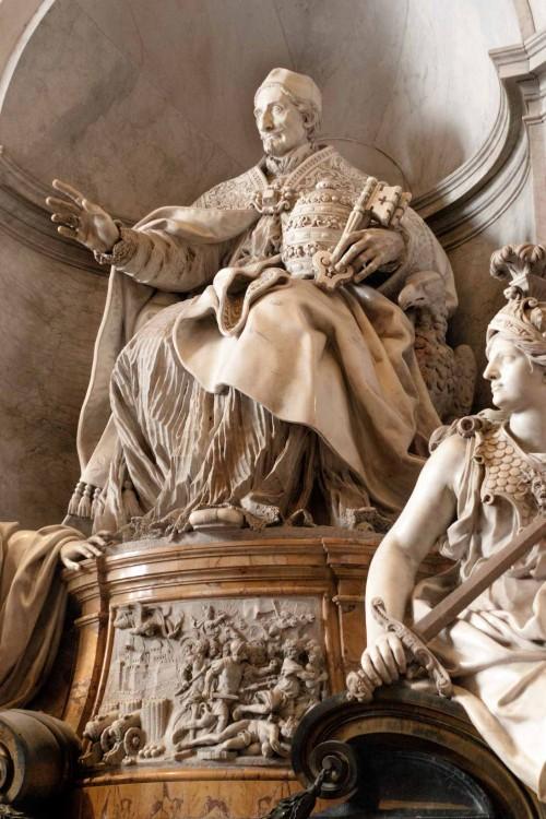 Tombstone of Pope Innocent XI, fragment, Basilica of San Pietro in Vaticano