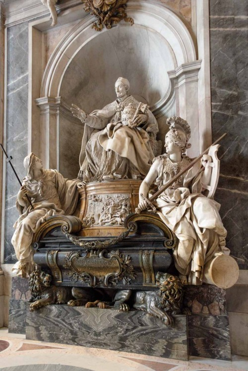 Tombstone of Innocent XI, design by Carlo Maratti, execution by Pierre-Étienne Monnot, Basilica of San Pietro in Vaticano