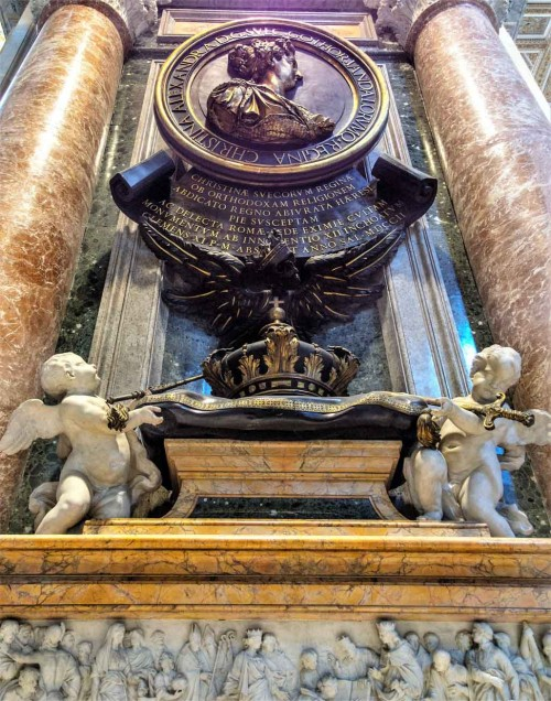Nagrobek królowej Krystyny szwedzkiej, bazylika San Pietro in Vaticano