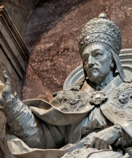 Nagrobek papieża Innocentego XII, fragment, bazylika San Pietro in Vaticano