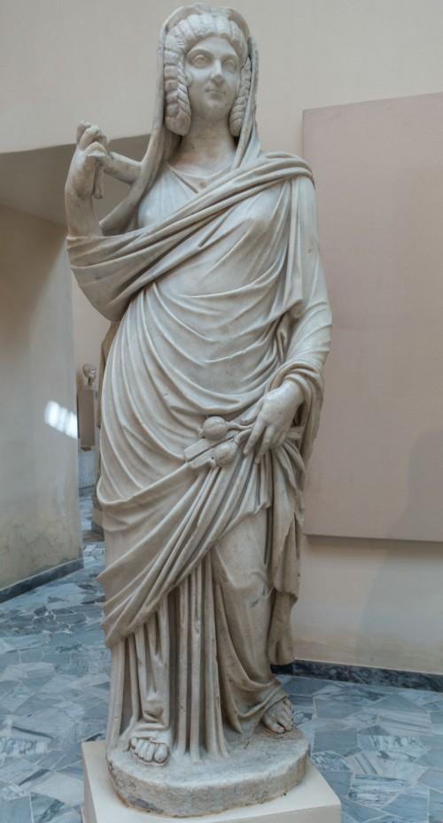 Julia Domna jako bogini Ceres, fragment, Museo Ostia Antica