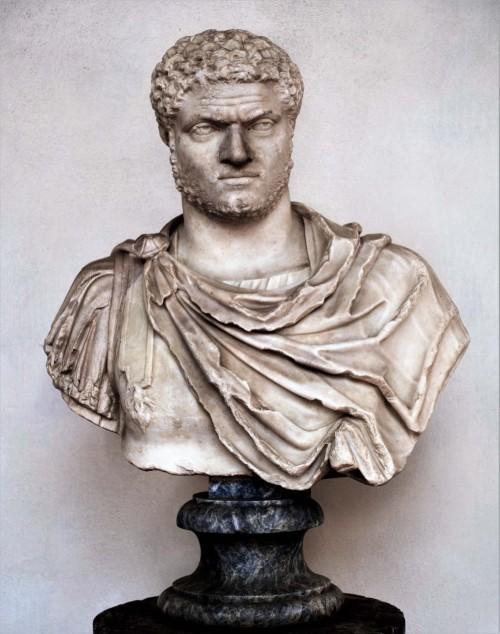 Popiersie cesarza Karakalli, syna Septymiusza Sewera i Julii Domny, Museo Nazionale Romano, Terme di Diocleziano