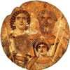 Portret rodziny cesarskiej, Julia Domna, Septymiusz Sewer, Karakalla i Geta (wymazany), Berlin, zdj. Wikipedia