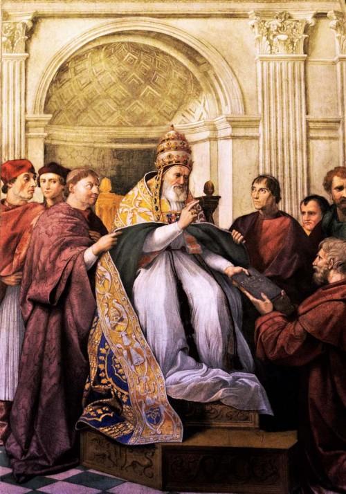 Portret Juliusza II jako papieża Grzegorza IX, apartamenty Juliusza II (Stanze Rafaela), Musei Vaticani