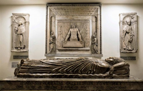 Tombstone of Pope Callixtus II in the Vatican Grottoes funded by his nephew Alexander VI