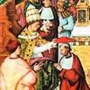Papież Kalikst III nadający kapelusz kardynalski Enea Piccolominiemu - późniejszemu papieżowi Piusowi II, fresk, katedra w Sienie, zdj. Wikipedia