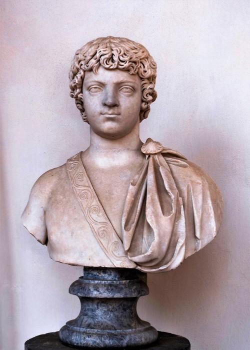 Karakalla, popiersie młodego cesarza, Museo Nazionale Romano - Terme di Diocleziano