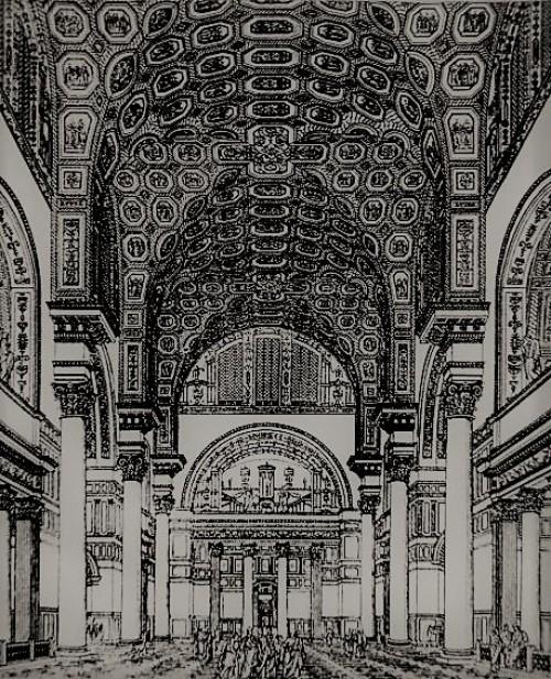 Łaźnie Karakalli, wizualizacja, zdj. Wikipedia, wg  Bade- und Schwimm-Anstalten, Stuttgart 1899