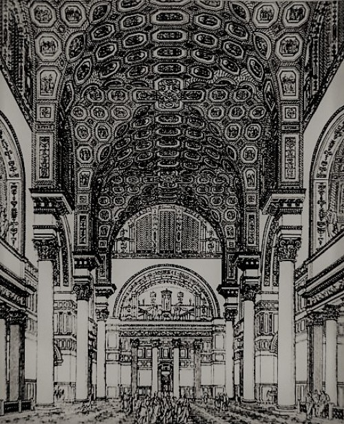 Baths of Caracalla, visualization, pic. Wikipedia, according to Bade-und Schwimm-Anstalten, Stuttgart, 1899