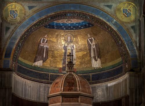 Bazylika Sant'Agnese fuori le mura, absyda z wizerunkiem św. Agnieszki