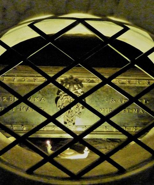 Relikwiarz ze szczątkami św. Agnieszki, bazylika Sant'Agnese fuori le mura