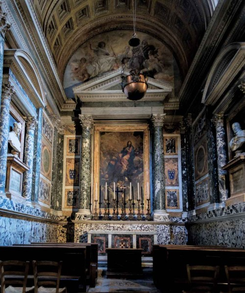 Altieri Chapel, busts of the father and brother of Pope Clement X, Basilica of Santa Maria sopra Minerva