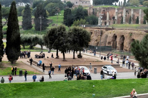 Miejsce, gdzie ongiś znajdował się posąg Nerona