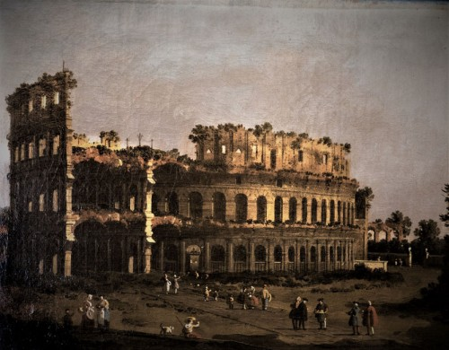 Widok Koloseum, Giovanni Antonio Canal, poł. XVIII w., Galleria Borghese