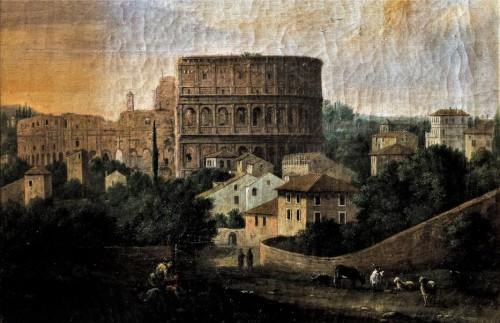 Widok Koloseum, Hendrik Frans van Lint, 1. poł. XVIII w., Palazzo Colonna