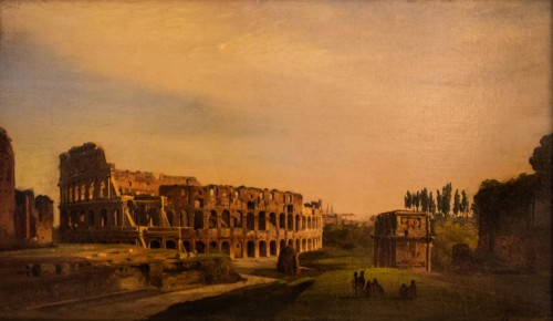 View of the Colosseum, Ippolito Caffi, mid XIX century, Museo-Palazzo Braschi