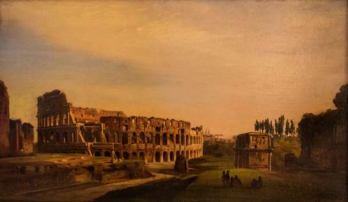 Widok Koloseum, Ippolito Caffi, poł. XIX w., Museo - Palazzo Braschi