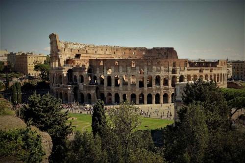 Widok Koloseum od strony Palatynu