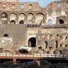Koloseum, widok na dawną trybunę cesarską