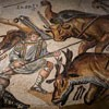 Gladiator fights, ancient mosaic, Galleria Borghese