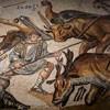 Walki gladiatorów, mozaika antyczna, Galleria Borghese