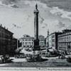 Kolumna Marka Aureliusza na Piazza Colonna, po prawej Palazzo Chigi, rycina - Giuseppe Vasi, II poł. XVII w.