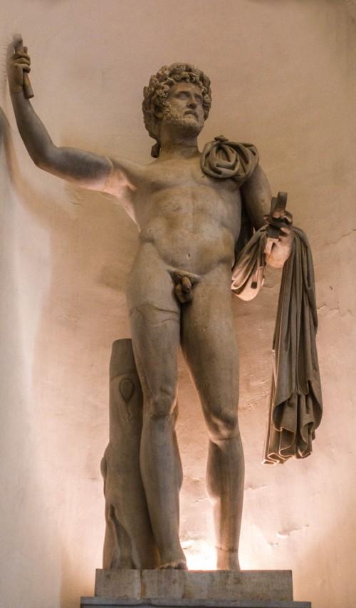 Statue of Emperor Commodus (or Antoninus Pius), Muso Romano, Palazzo Braschi