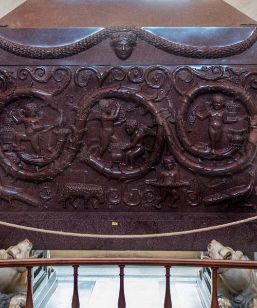 Sarcophagus of Constantina, daughter of Emperor Constantine the Great, fragment, Musei Vaticani