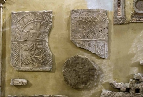 Basilica of Sant'Agnese fuori le mura, fragments of ancient and early-Christian relics excavated in the complex
