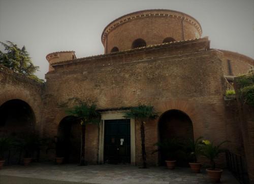 Former Mausoleum of Constantina, present-day Church of Santa Constanza, enterance portal