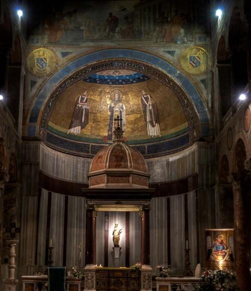 Basilica of Sant'Agnese fuori le mura, ciborium from the XVI century