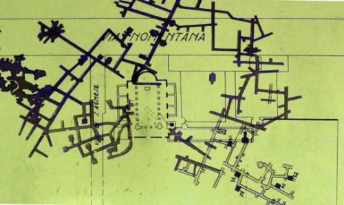 Sant'Agnese fuori le mura, labirynt katakumb, do których wchodzi się z lewego przedsionka kościoła