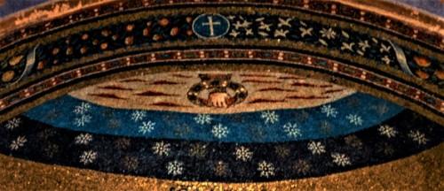 Basilica of Sant'Agnese fuori le mura, apse mosaics, fragment