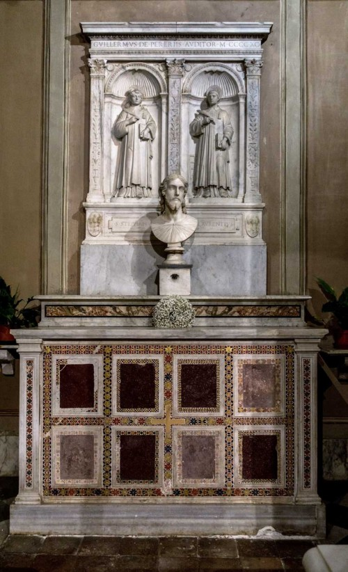 Basilica of Sant'Agnese fuori le mura, altar of SS. Lawrence and Stephen, the Head of Christ – Nicolas Cordier