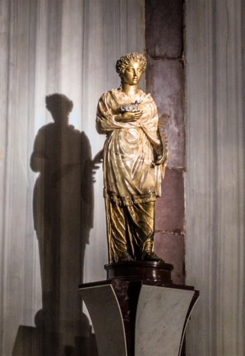 Basilica of Sant'Agnese fuori le mura, statue of St. Agnes in the church apse, Nicolas Cordier