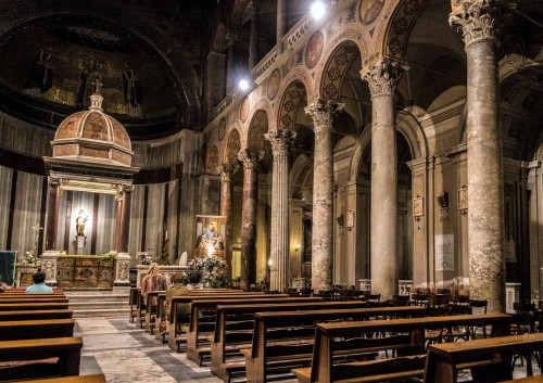 Basilica of Sant'Agnese fuori le mura, view of the right nave and apse of the church