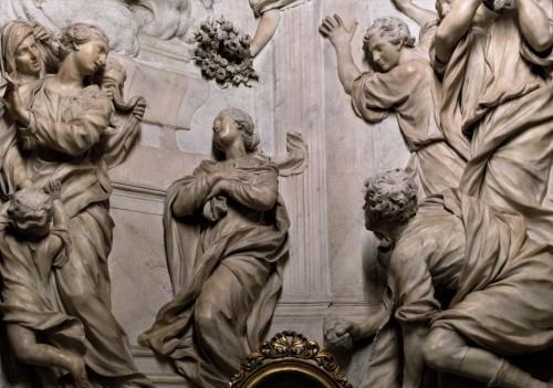 Sant'Agnese in Agone, ołtarz boczny, Męczeństwo św. Emerencjany, fragment
