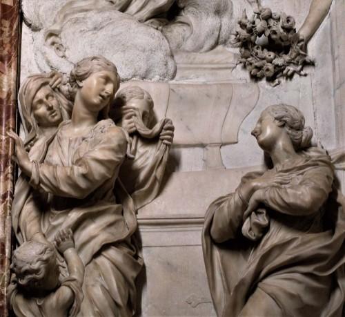 Sant'Agnese in Agone, ołtarz boczny, Męczeństwo św. Emerencjany, fragment, Ercole Ferrata