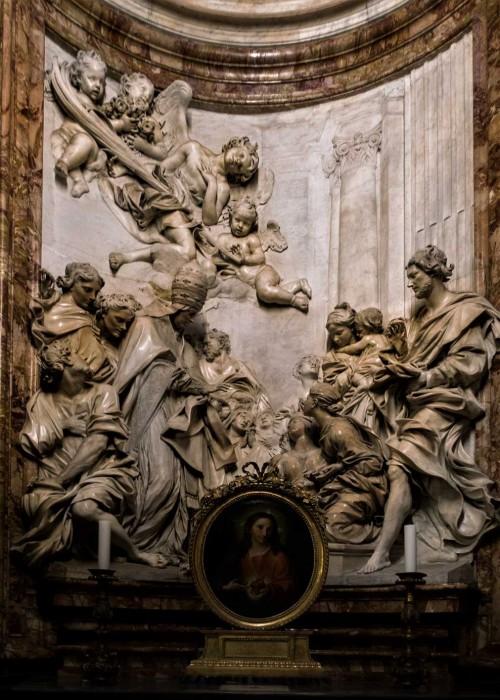Sant'Agnese in Agone, ołtarz boczny - Śmierć św. Cecylii, Antonio Raggi
