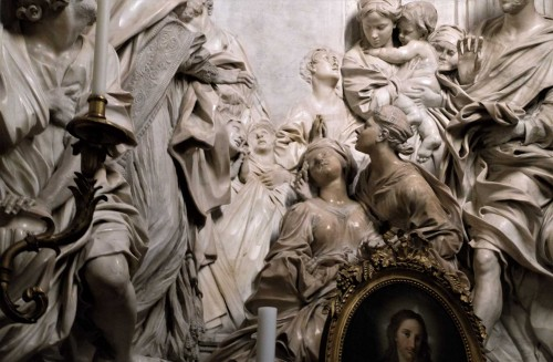 Church of Sant'Agnese in Agone, side altar, The Death of St. Cecilia, fragment